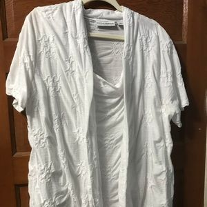 Sag Harbor 2x layered looked white blouse